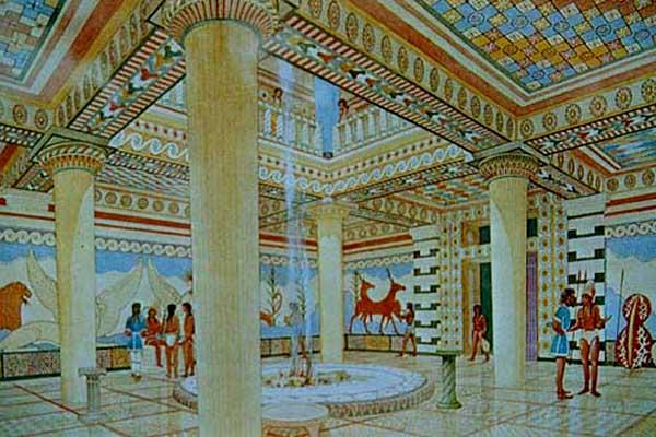 Greek Paintings In A Room