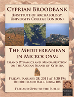 Cyprian Broodbank (UCL): The Mediterranean in Microcosm