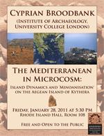 Cyprian Broodbank (UCL): The Mediterranean in Microcosm
