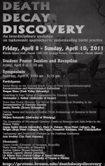 Death, Decay, and Discovery: Student Poster Session and Reception