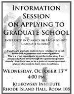 Information Session on Applying to Graduate School