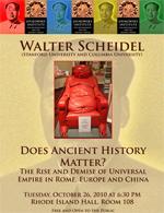 Walter Scheidel (Stanford University and Columbia University):