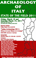 The Archaeology of Italy: The State of the Field 2011